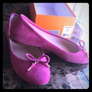 K S Willa suede ballerina shoes.